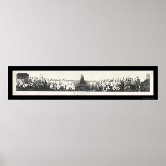 Stock Exchange Gusher Photo 1910 Poster