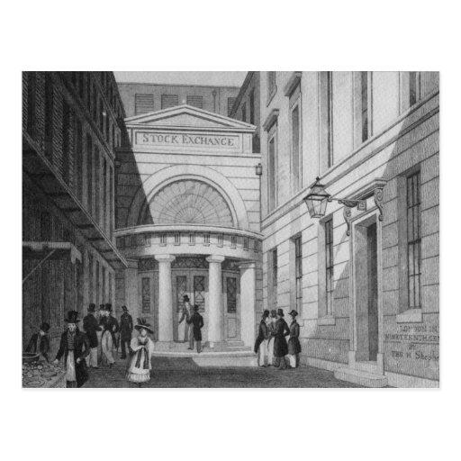 Stock Exchange, London, from 'Metropolitan Post Cards