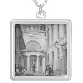 Stock Exchange, London, from 'Metropolitan Silver Plated Necklace