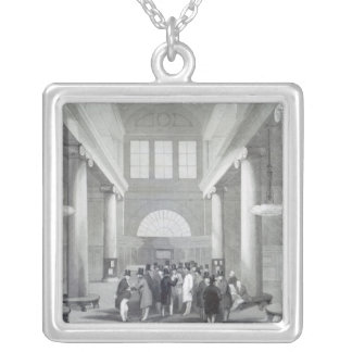 Stock Exchange Silver Plated Necklace