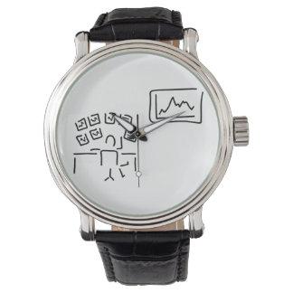 stock exchange stock broker fund manager wrist watch