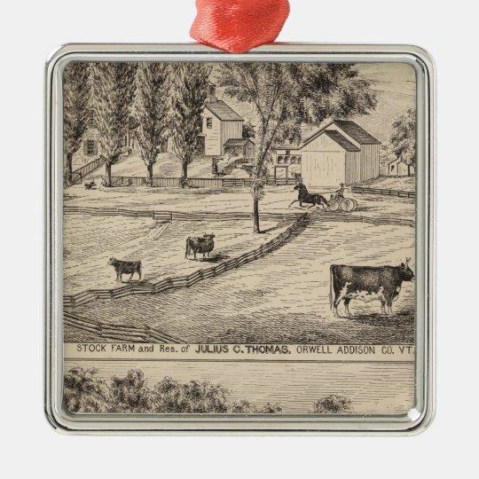 Stock farm in Orwell Vermont Metal Ornament