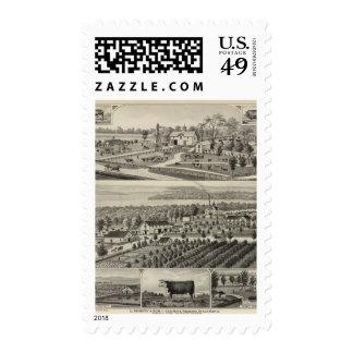 Stock Farm, Reading, Kansas Postage Stamps