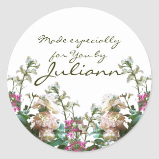 Stock Flower/ Gift Tag Classic Round Sticker