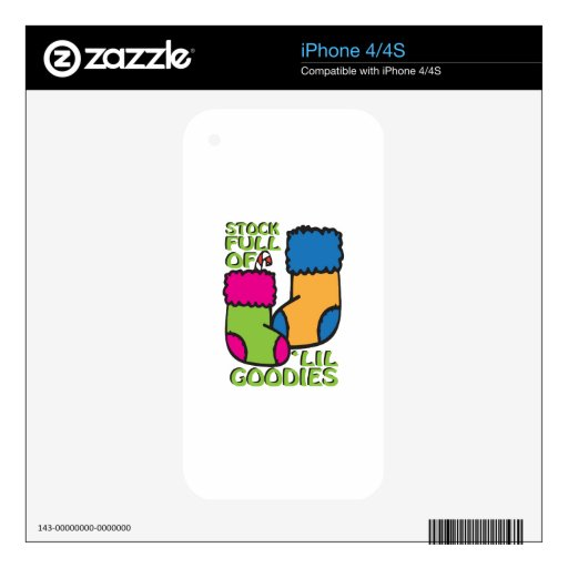 Stock Full Of 'Lil Goodies iPhone 4S Decals
