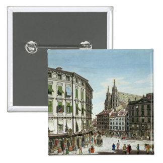 Stock-im-Eisen-Platz, with St. Stephan's Pinback Button
