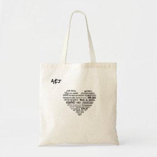 Stock market A&J heart of sentences Tote Bag