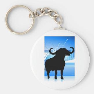 Stock Market Bull Keychain