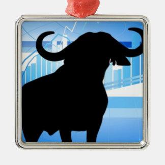 Stock Market Bull Metal Ornament