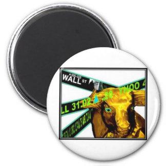 Stock Market Bull Refrigerator Magnets