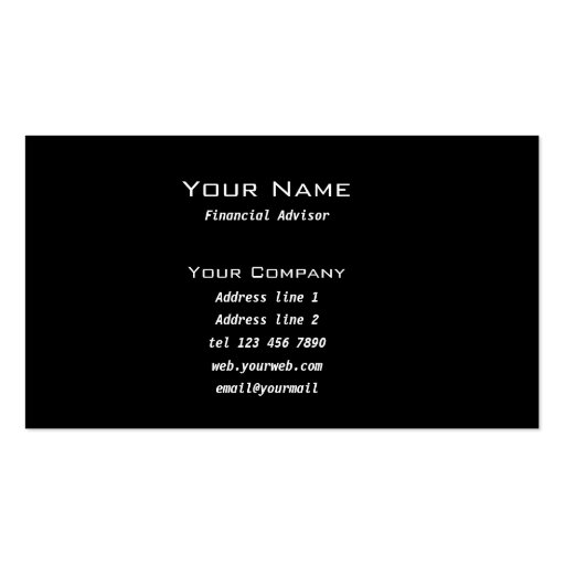 Stock market business card