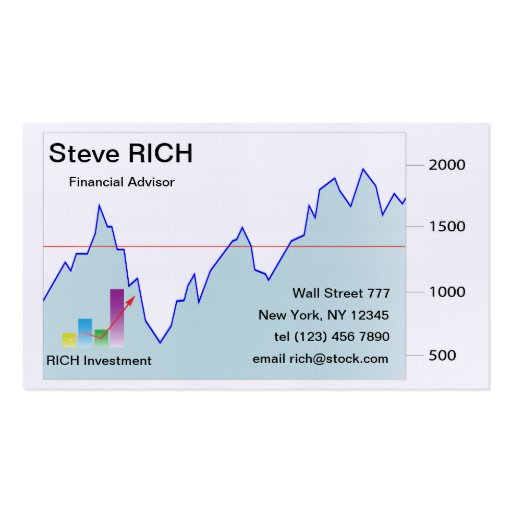 Stock market Business Card template