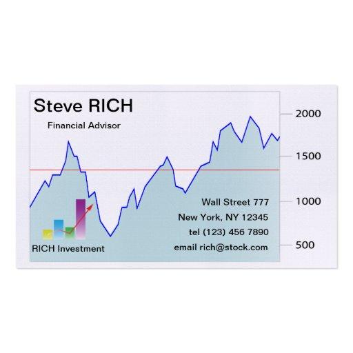 Stock market Business Card template