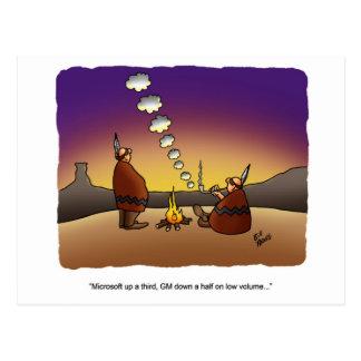 Stock Market Business Humor Postcard