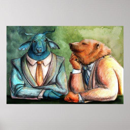 Stock Market by Portia St. Luke Poster