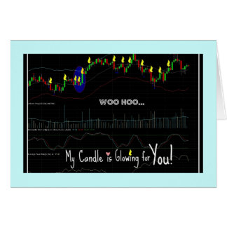 Stock Market Candlestick Chart, Multi-Use Greeting Card