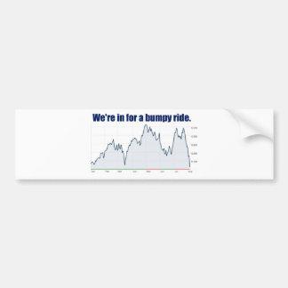 STOCK MARKET CHART BUMPY RIDE BUMPER STICKER