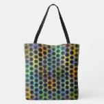 Stock market colored with black small balls and tote bag