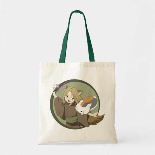 """Stock market Eco Nyanko-sensei """"Sakura """" Tote Bag"""