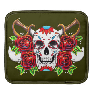 """Stock market for iPad """"Mexican Skull """" Sleeve For iPads"""
