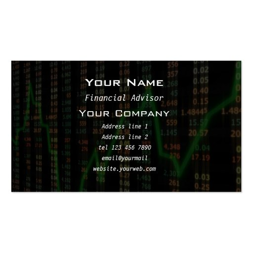 Stock market graph Business Card