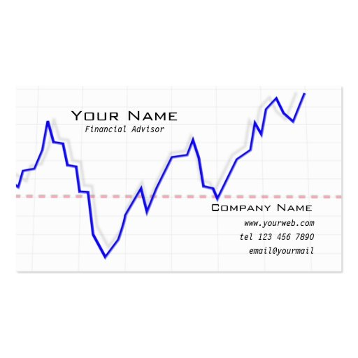 Stock market graph Business Card