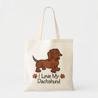 "Stock market ""I love my dachshund "" Tote Bag"