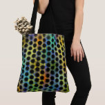 Stock market in colors with black small balls and tote bag