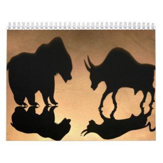 Stock Market Inspired Calendar