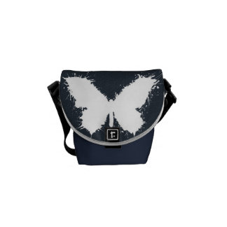 """Stock market """"Jeans Butterfly """" Courier Bag"""