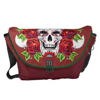 """Stock market """"Mexican Skull """" Messenger Bag"""