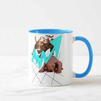 Stock Market Mug Blue
