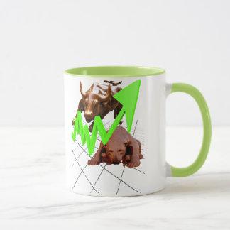 Stock Market Mug Green