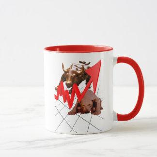 Stock Market Mug red