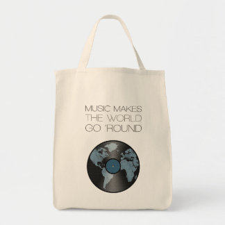 """Stock market """"Music makes the world go round """" Tote Bag"""