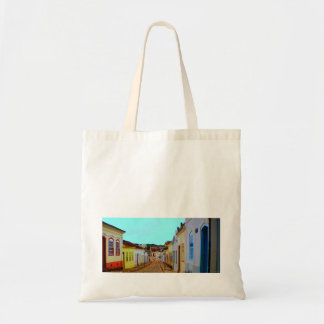 Stock market of the city Good Village of Goiás Tote Bag