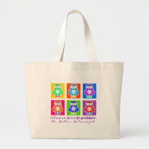 Stock market Owl Large Tote Bag
