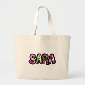 Stock market Sara fabric Large Tote Bag