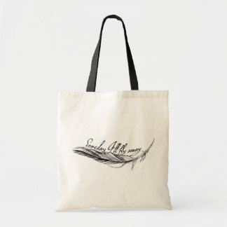 """Stock market """"Someday I'll Fly Away """" Tote Bag"""
