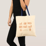 Stock market with design of Colonial Zone, Santo Tote Bag