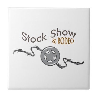STOCK SHOW AND RODEO CERAMIC TILE