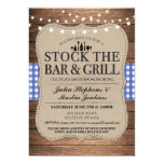 Stock The Bar and Grill Rustic Couple's Shower Invitation