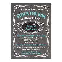 Stock the bar bachelor party invitation