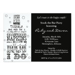 Stock the Bar Bottle Rhyme Party Invitation- Black Card