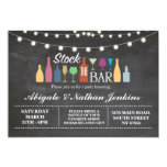 Stock The Bar Chalk Engagement Shower Invitation