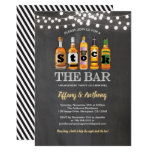 Stock the bar chalkboard engagement party invitation