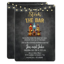 Stock the Bar Couples Coed Shower Invitation