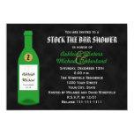 Stock the Bar Couples Shower Invitation Chalkboard Custom Invitations