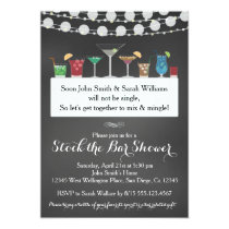 Stock the Bar Couples Wedding Shower Invitation