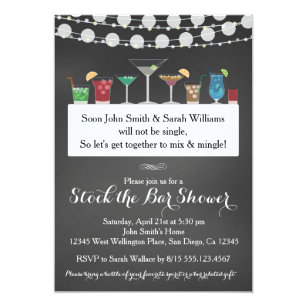Stock The Bar Invitations Announcements Zazzle